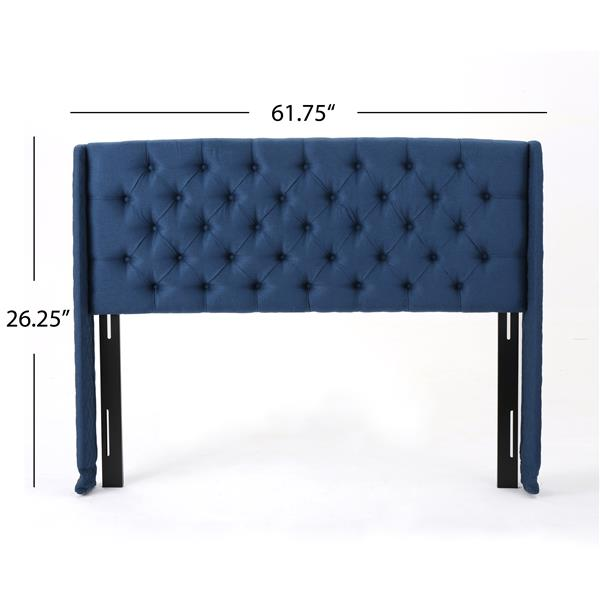 Best Selling Home Decor Parquet Tufted Fabric Headboard - Queen - Blue