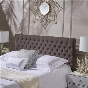 Best Selling Home Decor Rutherford Tufted Fabric Headboard - King/Cal King - Brown