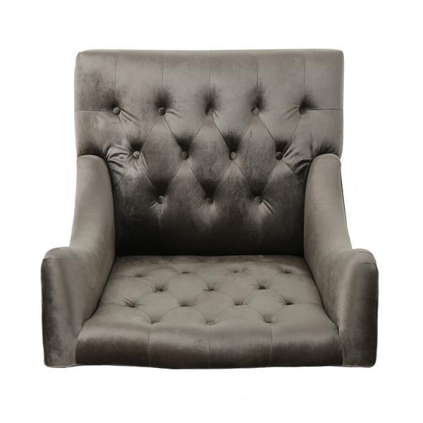 Fauteuil d'appoint en velours Elise de Best Selling Home Decor, gris