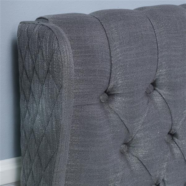 Best Selling Home Decor Johnston Tufted Fabric Headboard - Queen - Gray