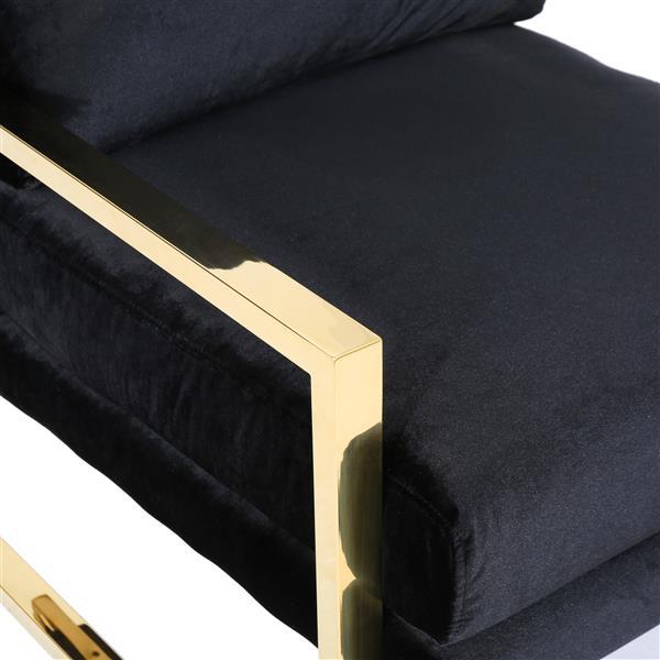 Best Selling Home Decor Leonard Modern Accent Chair - Black Velvet