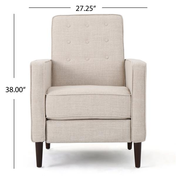 Best Selling Home Decor Madsion Modern Fabric Recliner - Off-white