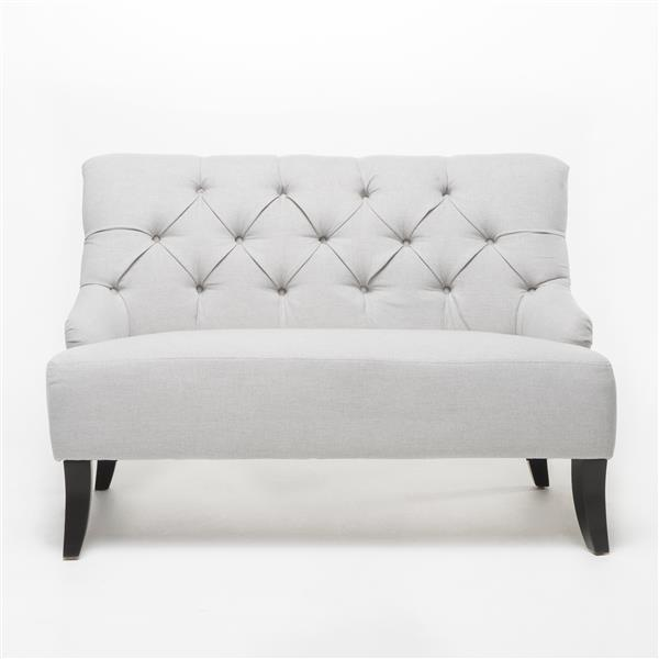 Best Selling Home Decor Nicole Tufted Settee - Light Grey