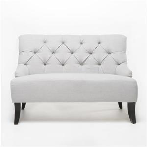 Canapé Nicole en tissu de Best Selling Home Decor, gris pâle