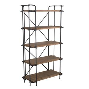 Best Selling Home Decor Beatrice 5-Tier Bookshelf -  Antique Brown