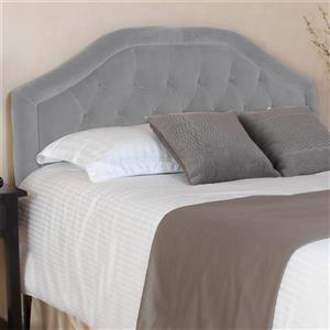 Tête de lit Felix de Best Selling Home Decor, très grand lit, gris
