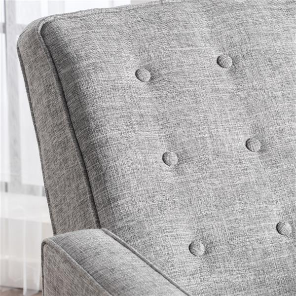 Best Selling Home Decor Madsion Modern Fabric Recliner - Light Gray