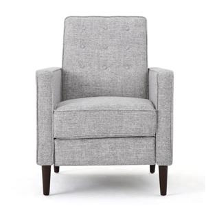 Fauteuil inclinable moderne en tissu Madsion de Best Selling Home Decor, gris pâle