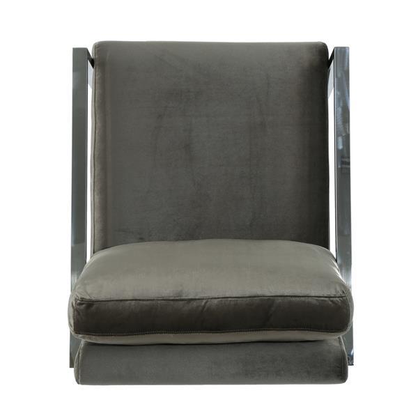 Fauteuil d'appoint en velours Leonard de Best Selling Home Decor, gris