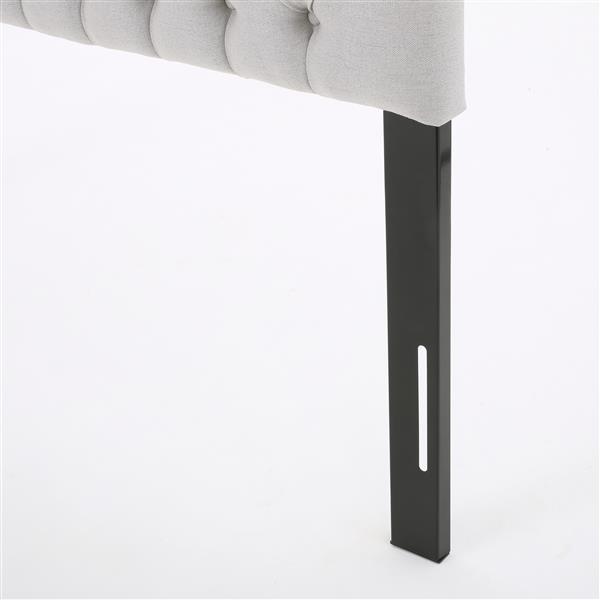 Best Selling Home Decor Barrett Fabric Headboard - Full/Queen - Gray