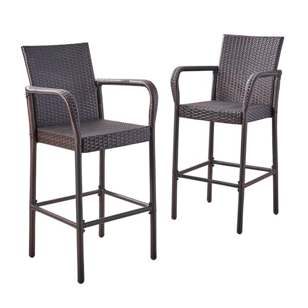 Best Selling Home Decor Daisy Bar Stool - Brown - Set of 2