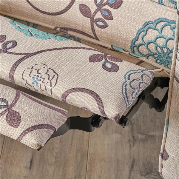 Best Selling Home Decor Doris Fabric Recliner - Cream