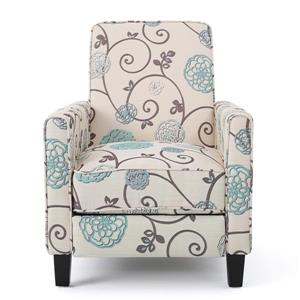 Best Selling Home Decor Doris Fabric Recliner - Cream