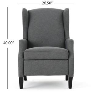 Fauteuil inclinable en tissu traditionnel Scott de Best Selling Home Decor, gris foncé