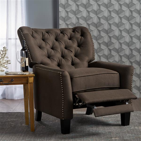 Best Selling Home Decor Jasmine Fabric Recliner - Brown