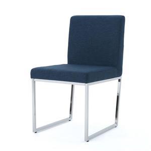 Chaise de salle à manger Nathan de Best Selling Home Decor, tissu bleu