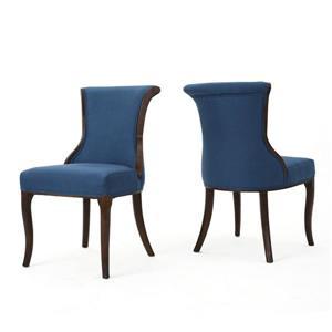Chaise de salle à manger Dottie de Best Selling Home Decor, tissu bleu, ens. de 2