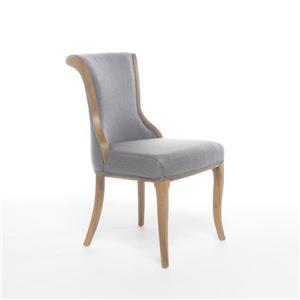 Chaise de salle à manger Lorenzo de Best Selling Home Decor, tissu gris pâle, ens. de 2