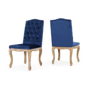 Chaise de salle à manger Bermuda de Best Selling Home Decor, velours bleu, ens. de 2
