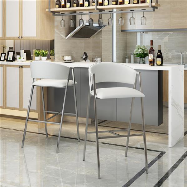 Best Selling Home Decor Laraine Counter Stool - White - Set of 2