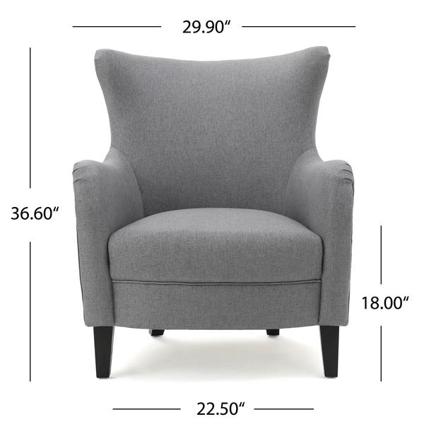 Best Selling Home Decor Anne Fabric Accent Chair - Gray