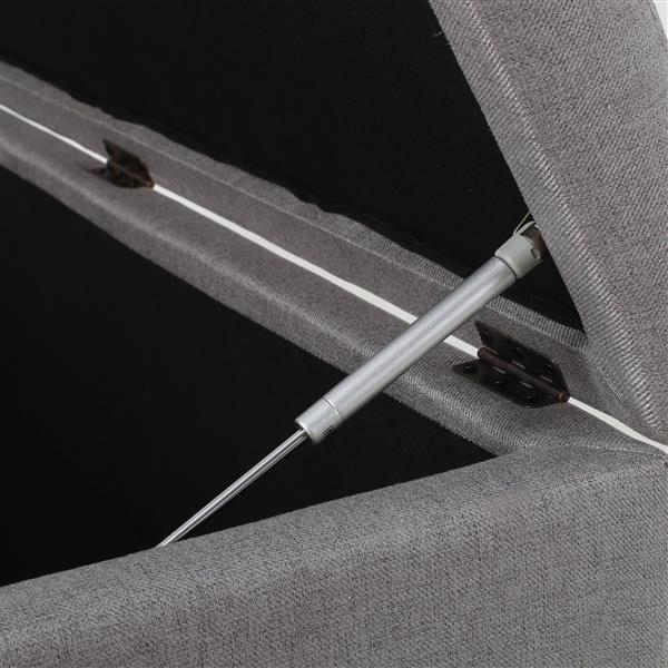 Ottomane en tissu avec rangement Brenda de Best Selling Home Decor, gris