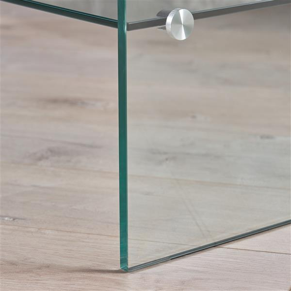 Best Selling Home Decor Laraine Coffee Table - Tempered Glass