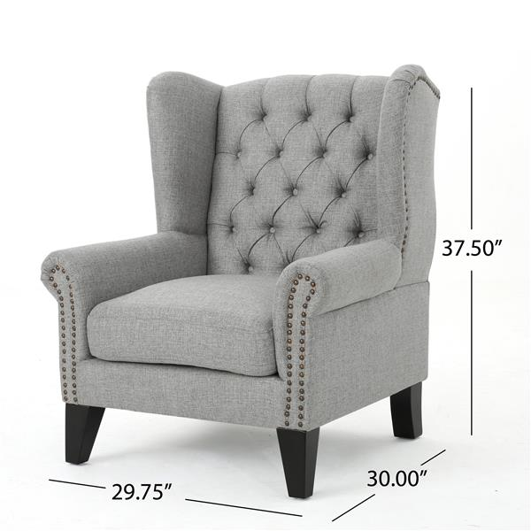 Best Selling Home Decor Laird Taditional Fabric Accent Chair - Gray