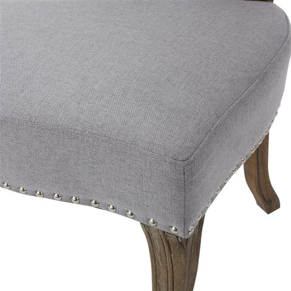 Best Selling Home Decor Burnam Fabric Dining Chair - Gray - Set of 2