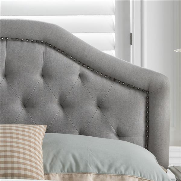 Best Selling Home Decor Plymouth Fabric Headboard - Full/Queen - Gray