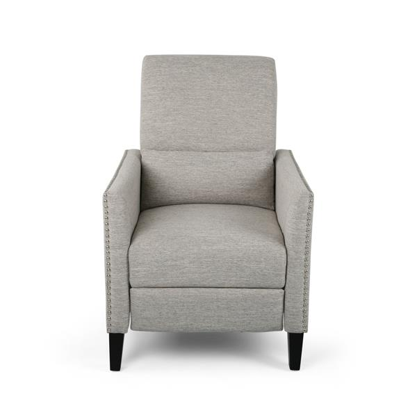Best Selling Home Decor Irene Contemporary Fabric Recliner - Gray