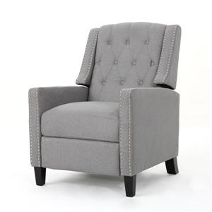 Fauteuil inclinable en tissu capitonné Iris de Best Selling Home Decor, gris