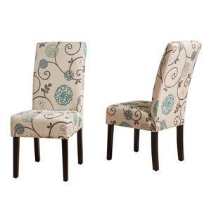 Best Selling Home Decor Beluga Fabric Dining Chair - Cream - Set of 2