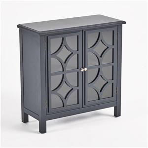 Armoire à double porte en verre Ruby de Best Selling Home Decor, gris