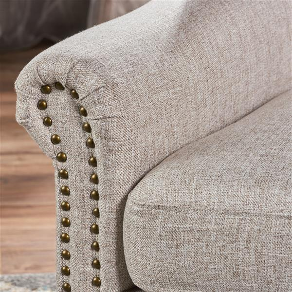 Best Selling Home Decor Laird Taditional Fabric Accent Chair - Beige