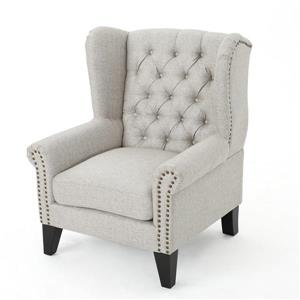 Fauteuil d'appoint en tissu Laird de Best Selling Home Decor, gris pâle