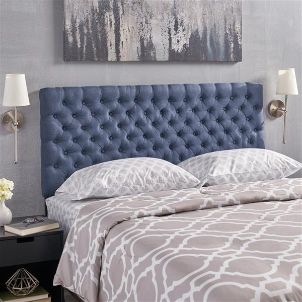 Best Selling Home Decor Rutherford Tufted Fabric Headboard - King/Cal King - Blue