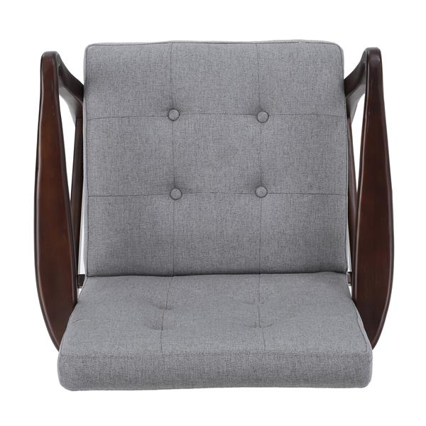 Best Selling Home Decor Dual Fabric Accent Chair - Gray