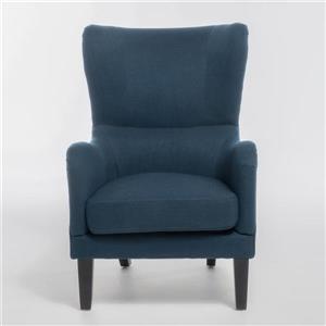 Fauteuil d'appoint en tissu Lorenzo de Best Selling Home Decor, bleu-gris