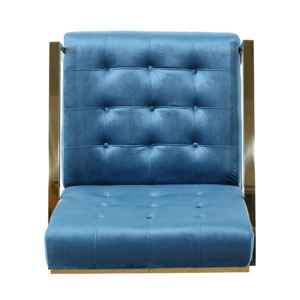 Best Selling Home Decor Bellagio Modern Tufted Accent Chair - Aqua Velvet
