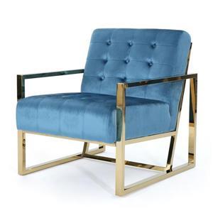 Fauteuil d'appoint en velours Bellagio de Best Selling Home Decor, turquoise