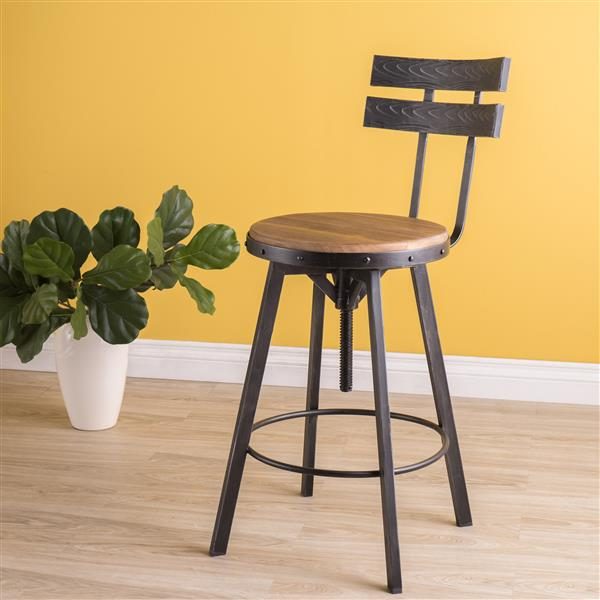 Best Selling Home Decor Alisa Bar Stool - Silver Brown