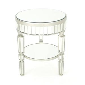 Table d'appoint ronde Will de Best Selling Home Decor, 20 po x 23,75 po, argent