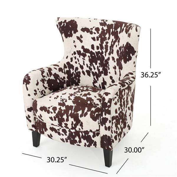 Best Selling Home Decor Arabelle Classic Accent Chair - Brown and White