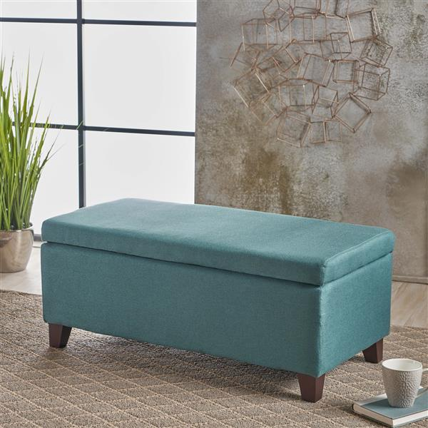 Best Selling Home Decor Donna Fabric Storage Ottoman - Green