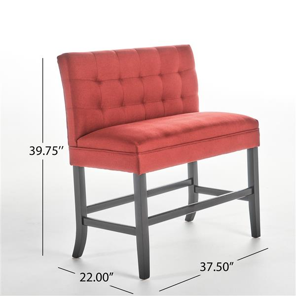 Best Selling Home Decor Samuel Fabric Counter Stool - Red