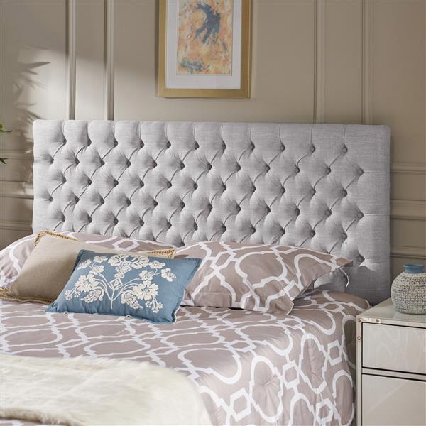 Best Selling Home Decor Barrett Tufted Fabric Headboard - Queen - Gray