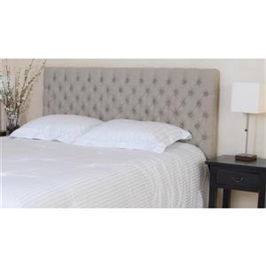 Tête de lit en tissu capitonné Barrett de Best Selling Home Decor, grand lit, gris