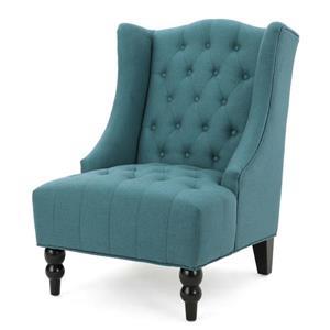 Fauteuil d'appoint en tissu Elise de Best Selling Home Decor, turquoise