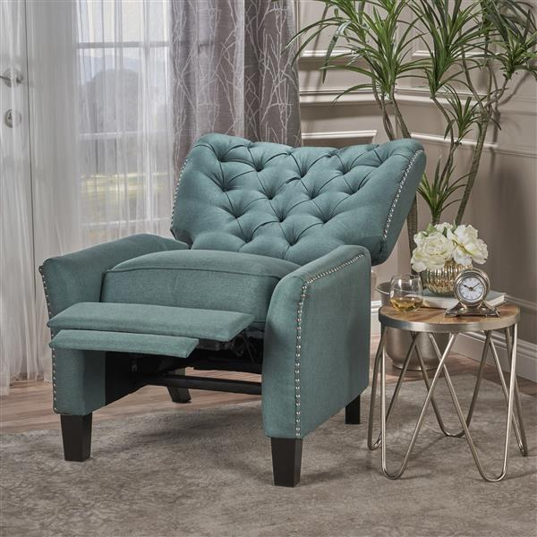 Best Selling Home Decor Jasmine Fabric Recliner - Turquoise